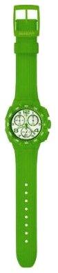 Swatch SUIG400 – Reloj cronógrafo de caballero de cuarzo con correa de plástico verde