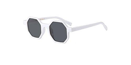 Hykis - Small Square Vintage-Sonnenbrillen Frauen UV400 Grau Objektiv-Glas-Rahmen Retro Neue Art und Weise Damen Sonnenbrille Oculos [wei?]