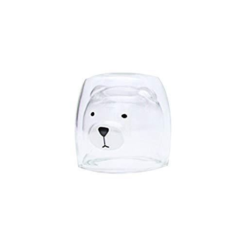 mit Lustige Drucken-Tee Tasse aus Glas - Doppelschicht Tasse Glas Benutzerdefinierte Cup Isolierung Premium Transparente Tassen ♥ Loveso♥