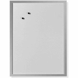 Herlitz Whiteboard 40x60cm beschriftbar Holzrahmen silber -