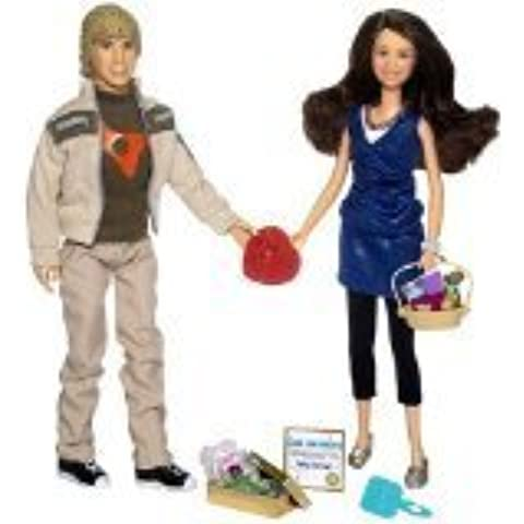 2007 - Play Along / Disney - Hannah Montana Target Exclusive - Miley & Jake Dolls - 22 Pieces - Sweethearts Series / Fashions from the Show - New / Mint - Out of Production - Limited Edition - Collectible by Disney
