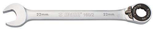 Unior 9611618 forgé Combi Clé à cliquet, 17 mm