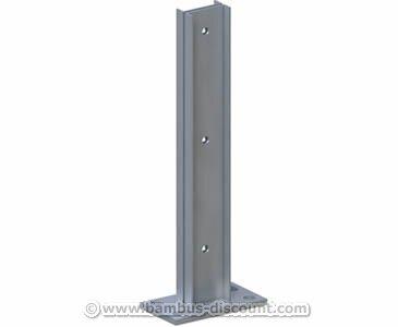 bambus-discount.com Bodenanker für Pfosten, WPC Hohlkammer - Sichtschutz, Sichtschutz Elemente, Sichtschutzwand, Windschutz, Sichtschutzzäune