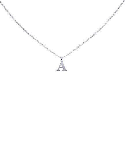 """SIX Silber Buchstaben Kette, Halskette mit Buchstaben Anhänger""""A"""", 925 Silber Charm (386-075)"""