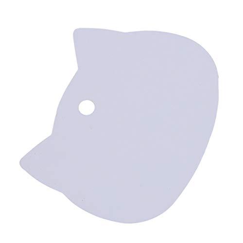 Beiswin 100 stücke Papier Label Mark Niedlich Braun Weiß Schwarze Katze Kopf Form Tags Karte für Party Weihnachtsdekoration Geschenke (Weiß)