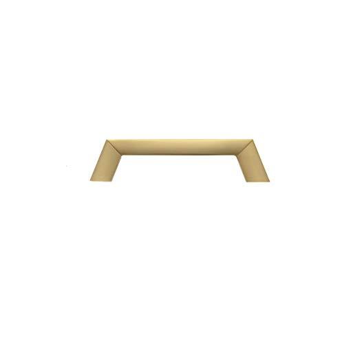 SHRMBS147 Türgriffschrauben, Zinklegierung, Griff für Küchenschränke, Schlafzimmer, Kommode, Schublade, Badezimmerschrank, Gold, 96mm (Kommode Schublade Ziehen Hardware)