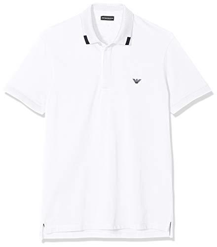 Emporio Armani Underwear 9p461, Polo Uomo, Bianco (Bianco 00010), Medium