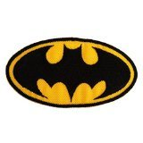 Batman Logo Super Hero Comic-Figure The Legendary Batman Comic Movies Patch '' 8,5 x 7,8 cm'' - Écusson brodé Ecussons Imprimés Ecussons Thermocollants Broderie Sur Vetement Ecusson