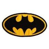 Batman Logo Super Hero Comic-Figure The Legendary Batman Comic Movies Patch '' 8,5 x 7,8 cm'' - Aufnäher Aufbügler Applikation Applique Bügelbilder Flicken Embroidered Iron on Patches (Logo Strass Jean)