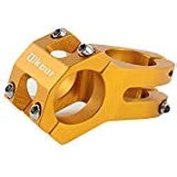 Bicicletas Potencias MTB Bicicletas De Montaña Manillar Potencias ø31.8mm x 45mm, Aleación De Aluminio, Ciclismo Componentes Repuestos (Dorado)