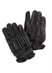 Schutzhandschuhe Defender aus Leder mit Quarzfüllung Security Lederhandschuhe Schwarz S-XXL (L)