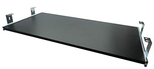 FIX&EASY Tastaturauszug mit Tastaurablage 800X300mm Esche-schwarz Dekor, Auszugschienen verzinkt 300mm, Set Ablage mit Auszug für Tastatur Maus Keyboard Laptop - Verstellbarer Unterbau-regal