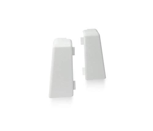KGM Außenecke für Mega Sockelleiste   Inhalt 2 Stück ✓einfache Fussleisten Montage ✓saubere Ecken   passend für Mega Laminatleiste weiß   Mega Außenecken weiß aus Kunststoff