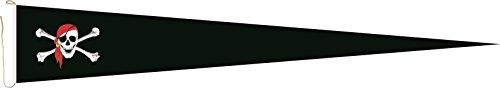 Haute Qualité pour U24 Long Fanion Drapeau Pirate avec foulard rouge 250 x 40 cm