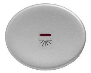 Niessen tacto - Tecla pulsador con visor simbolo luz tacto plata