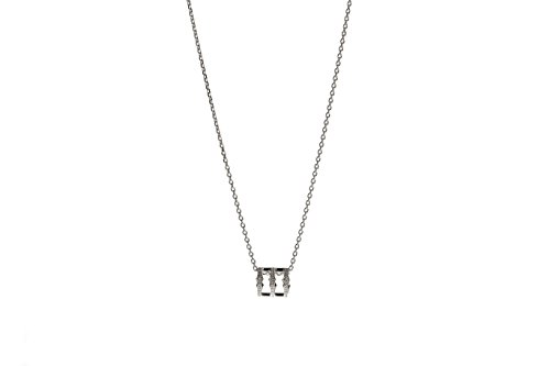 Babette Wasserman épingle Triple Spear en argent sterling collier de 45 cm argent