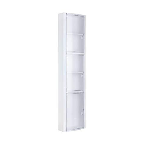 Tatay 4480001mobile da bagno verticale con 3porte plastica ghiaccio 22x 10x 90,5cm