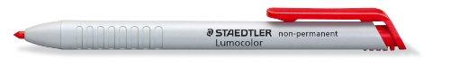 Staedtler 768N Lumocolor non-permanent omnichrom Trockenmarker wasserlöslich, 3,0mm, rot