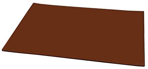 Alassio 52001 - Schreibtischunterlage 65 x 45 cm, rutschfest, aus echtem Leder, cognac - braun (Braun Leder A2)