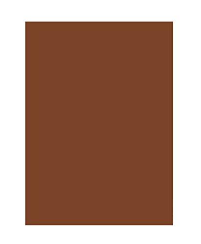 folia 6385 - Tonpapier schokobraun, DIN A3, 130 g/qm, 50 Blatt - zum Basteln und kreativen Gestalten von Karten, Fensterbildern und für Scrapbooking -