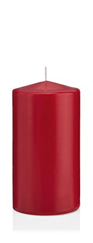 Bougies Rouge Vieilli, Bougies Pilier Rouge Vieilli 12 x 4 cm (H x Ø), 24 pièces, Bougies Wiedemann, Bougies de Marque Made in Germany