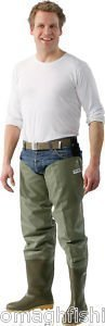 ocean-nova-delux-fly-fishin-thigh-hip-waders-with-studs-uk-8-eur-42