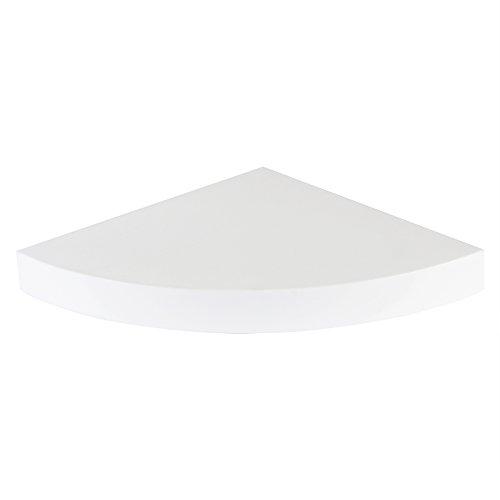 WOLTU RG9241ws Eckregal kleines Wandregal Hängeregal, 35x35x3,4 cm, weiß