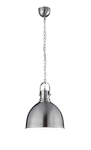 Serie Cupola (Trio Leuchten Vintage Cupola Pendelleuchte, Metall, E27, Nickel matt)
