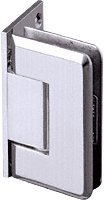 CRL Pinnacle 044 Series Chrome Wall Mount Offset Back Plate Hinge by C.R. Laurence -
