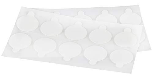 Hochleistungs-Klebepunkte doppelseitig aus Reinacrylat/Extra stark-klebend, restlos ablösbar / 20mm Ø für Papier & Pappe, Glas, Holz, Metall, Kunststoff etc. zum Basteln, fixieren usw. | 20 Stück