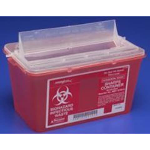 Kendall 8 qt. Chimney-Top Sharps Container, Red by