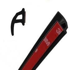 Universal P Form Gummidichtung Wetter Strip Hohl Tür Fenster Edge Zierleisten Dekorieren Dichtungsprofil, 5', schwarz, 1