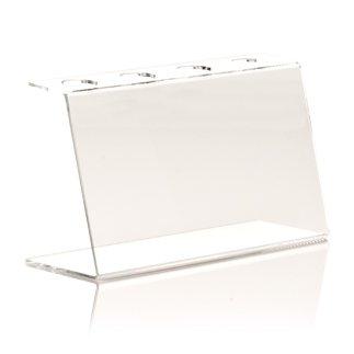 Für Eis Kegel (Ständer für Kegel und Waffeln für Eis–portaconi 4Loch Transparent 25x 9,4x 15h cm Ø3personalisierbar)