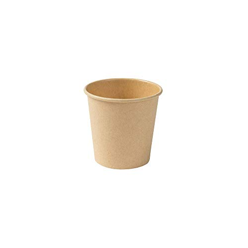 BIOZOYG Gobelet à café écologique en Papier Marron Non Blanchi I Gobelet Espresso gobelet de dégustation gobelet I 50 pièces café à emporter gobelets jetables Bio-dégradables 100ml 4oz
