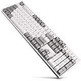 DURGOD Robuste mechanische Tastatur mit Cherry MX braunen Schaltern N-Key Rollover 104 Tasten (PBT-Tastenkappen) Typ C Schnittstelle für Gamer/Schreiber/Büro/Zuhause (weiß, ANSI/US) -