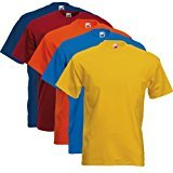 Fruit of the Loom 5 X 61-036-0 - camiseta, Hombre, Colour Set I, L