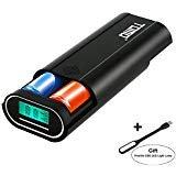 Authentic TOMO M2 3-in-1 Portable Dual USB Ports DIY Power Bank Digital LCD