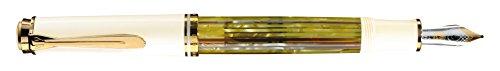 Pelikan 935569 Kolbenfüllhalter Souverän M 400 Schildpatt-Bicolor-goldfeder 14-K/585 Federbreite F, 1 Stück, weiß