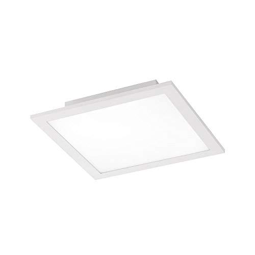LED Panel, 30x30, 17 Watt, Deckenleuchte - Deckenlampe, Tageslichtweiß - 4000 Kelvin, Büropanel, flach + platzsparend, Wohnzimmer-Lampe, Design-weiß-rechteckig, indirekte Deckenbeleuchtung