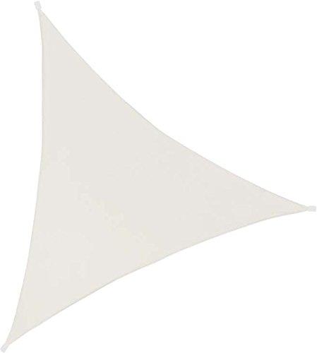 Ideanature toile d'ombrage triangulaire 3X3X3m polyester déparlent anti UV 140 gr/m2 ivoire, , Ivoire, 33 x 17 x 5 cm,