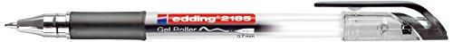 edding Gelroller edding 2185, metallgefasste Rollerspitze, 0,7 mm, schwarz