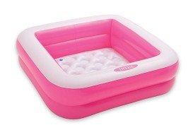 Play Box Pool 85 x 85 cm Höhe 23 cm aufblasbarer Boden Planschbecken Badespaß Schwimmbad für Kleinkinder Pool Planschbecken Kinderpool Babypool Baby Pool Schwimmingpool Kinderplanschbecken Duschwanne in grün oder rosa (rosa)