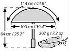 Euroschirm Swing Liteflex Regenschirm Farbe marine