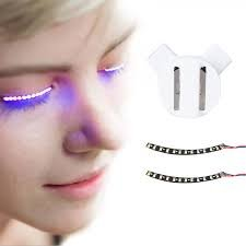 Falsche Wimpern ,Natürlich LED Falschen Wimpern 2017 Heiße Selling Neueste 1 Paar Unisex LED Waterproof Eyelashes für Party Bar Night Club Geburtstag Halloween Make-Up ZubehöR (Lila) (Sparkle Halloween Twilight)