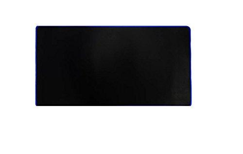 Woodlandu gro? Gaming Mouse Pad Gen?hte Kanten Geschwindigkeit seidiger Oberfl?che rutschfeste Gummiuntermatten 300x600x2mm/11.8x23.62x0.08inch Blau Edges