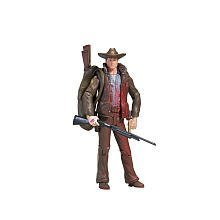 Includes one action figure with police duffel, several guns, and an axe