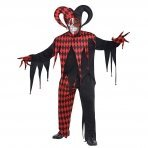Mens Krazed Jester Adults Evil Halloween Fancy Dress Costume Size Plus/XL by (Kostüm Jester Evil)