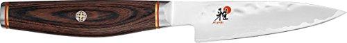 Miyabi 234072-091-0 Shotoh Zubereitungsmesser, Stahl, 90 mm, silber / braun, 30,5 x 7,7 x 2,7 cm