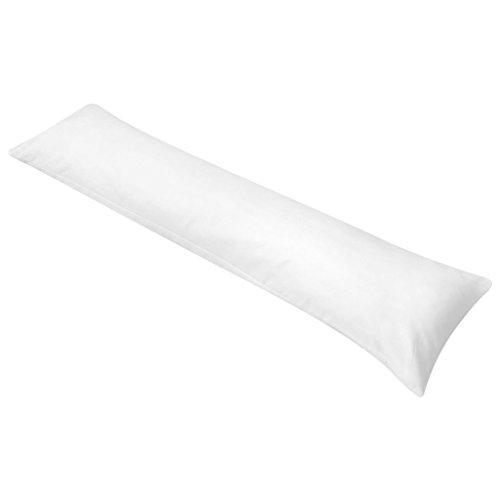 Festnight Komfortables Seitenschläferkissen Zum Schlafen Körperkissen Schwangerschaftskissen 40 x 145 cm Weiß