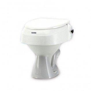 Toilettensitzerhöhung mit Deckel in 3 Stufen höhenverstellbar